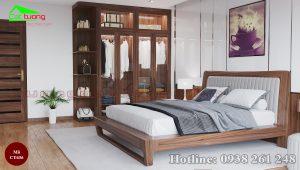 Giường ngủ gỗ óc chó CT636 a