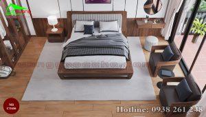 Giường ngủ gỗ óc chó CT636 b