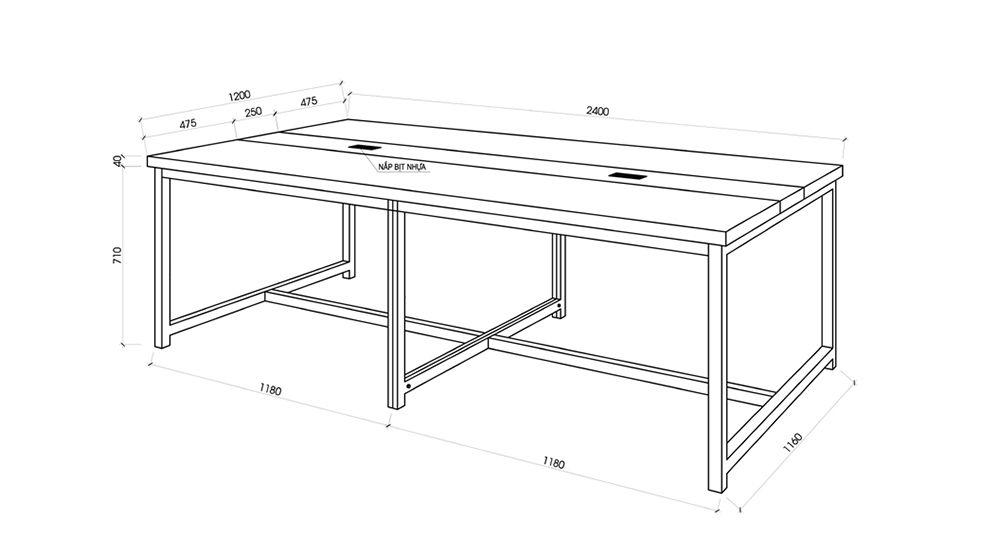 kích thước bàn ghế văn phòng