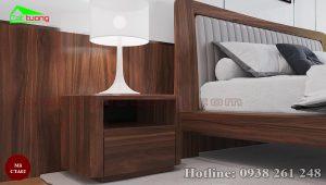 Táp đầu giường gỗ óc chó CTA02