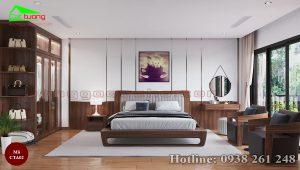 Táp đầu giường gỗ óc chó CTA02 a