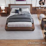 Táp đầu giường gỗ óc chó CTA02 b