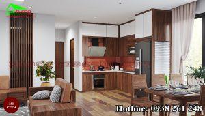 Tủ bếp gỗ óc chó CT824