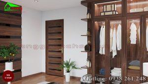 Tủ quần áo gỗ óc chó CT535 b