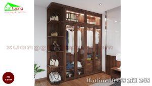 Tủ quần áo gỗ óc chó CT535 c