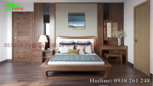Công trình thi công nội thất gỗ óc chó nhà chị Dung Ninh Bình