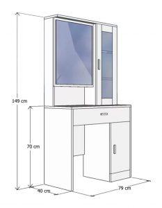 Kích thước bàn phấn 6