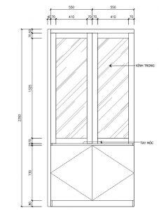 Kích thước tủ trang trí 1