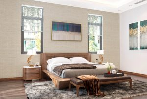 Nội thất phòng ngủ gỗ óc chó tự nhiên