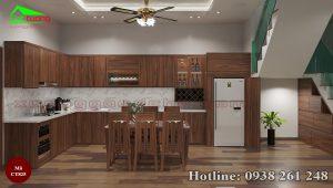 Tủ bếp gỗ óc chó CT825 a