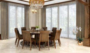 Mẫu bàn ăn đẹp bằng gỗ tự nhiên sang trọng