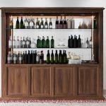 Tủ rượu gỗ tự nhiên sang trọng