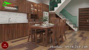 Bàn ăn gỗ tự nhiên cao cấp 4