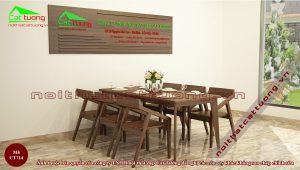 Bàn ăn gỗ tự nhiên cao cấp 9