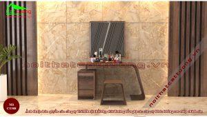 bàn trang điểm gỗ tự nhiên hiện đại