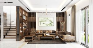 Phòng khách sang trọng hiện đại