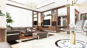 Thiết kế trần nhà phòng khách