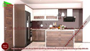 Tủ bếp gỗ1
