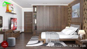 Giường gỗ óc chó CT640b