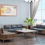 Sofa gỗ óc chó CT157