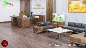 Sofa gỗ óc chó CT157a