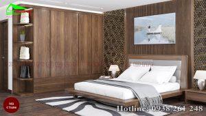 Táp đầu giường gỗ óc chó CTA06a