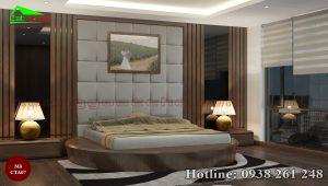 Táp đầu giường gỗ óc chó CTA07a