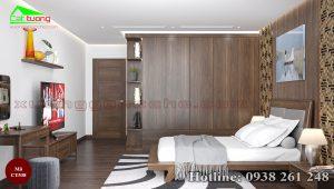 Tủ quần áo gỗ óc chó CT538a