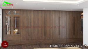 Tủ quần áo gỗ óc chó CT539