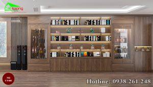 Tủ trang trí gỗ óc chó CT482