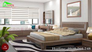 Giường ngủ gỗ óc chó CT642