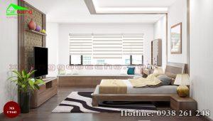 Giường ngủ gỗ óc chó CT642a
