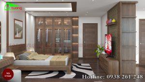 Giường ngủ gỗ óc chó CT642b