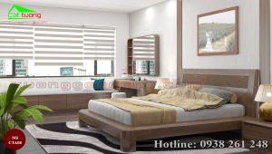 Táp đầu giường gỗ óc chó CTA08b