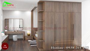Tủ quần áo gỗ óc chó CT540a