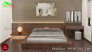 Giường gỗ óc chó CT644