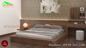 Giường gỗ óc chó CT644b