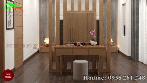 nội thất phòng ngủ gỗ sồi PN006