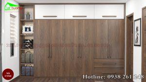Tủ quần áo gỗ óc chó CT542