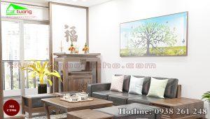 bàn thờ gỗ óc chó CT904a