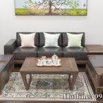 sofa gỗ óc chó CT158