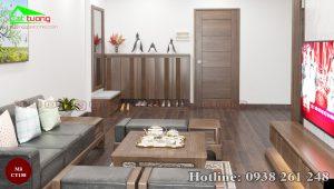 sofa gỗ óc chó CT158b