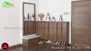 tủ giày gỗ óc chó CT422