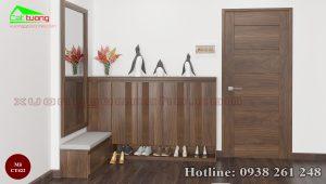 tủ giày gỗ óc chó CT422b
