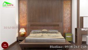 giường gỗ óc chó CT645a