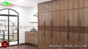 tủ quần áo gỗ óc chó CT543a