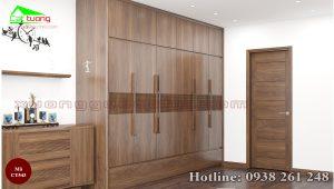 tủ quần áo gỗ óc chó CT543b