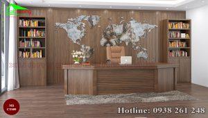 bàn làm việc gỗ óc chó CT009