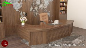 bàn làm việc gỗ óc chó CT009b