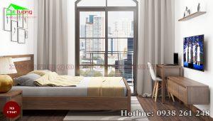 giường gỗ óc chó CT647a